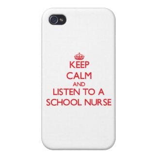 Guarde la calma y escuche una enfermera de la escu iPhone 4 protector