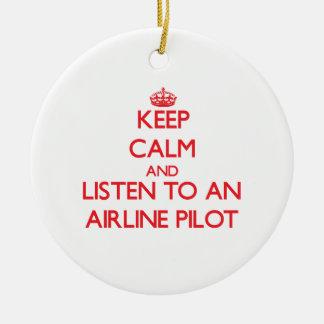 Guarde la calma y escuche una línea aérea ornamento para reyes magos