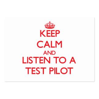 Guarde la calma y escuche una prueba tarjetas de visita
