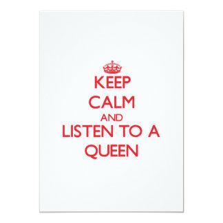 Guarde la calma y escuche una reina anuncios personalizados