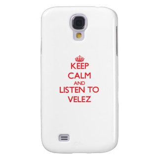 Guarde la calma y escuche Velez Funda Para Galaxy S4