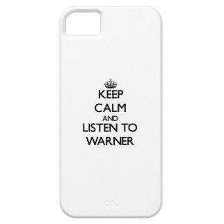 Guarde la calma y escuche Warner iPhone 5 Protectores
