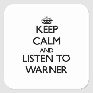 Guarde la calma y escuche Warner Colcomania Cuadrada