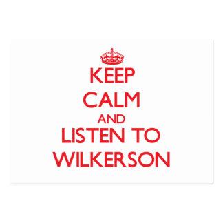 Guarde la calma y escuche Wilkerson Tarjeta De Visita