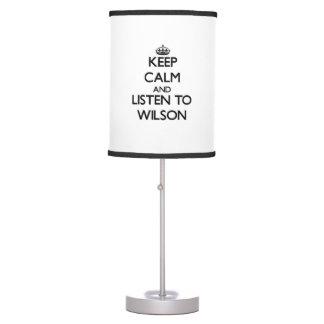 Guarde la calma y escuche Wilson