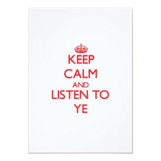 Guarde la calma y escuche YE Anuncios