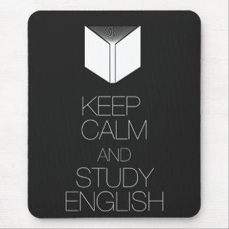 Guarde la calma y estudie el inglés mouse pads