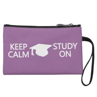 Guarde la calma y estudie en bolsos accesorios de