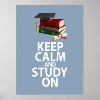 Guarde la calma y estudie en diseño único de la im