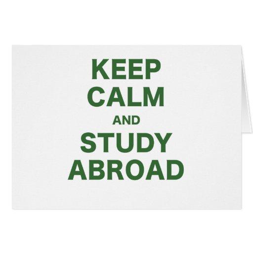 Guarde la calma y estudie en el extranjero tarjeton