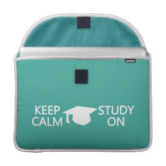 """Guarde la calma y estudie en el personalizado 15""""  funda para macbook pro"""