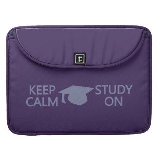 """Guarde la calma y estudie en el personalizado 15""""  fundas para macbook pro"""