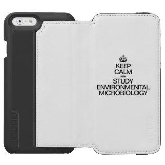 GUARDE LA CALMA Y ESTUDIE LA MICROBIOLOGÍA FUNDA BILLETERA PARA iPhone 6 WATSON