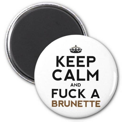 Guarde la calma y F@#$ un Brunette Iman