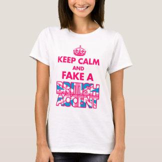 Guarde la calma y falsifique una camiseta de las