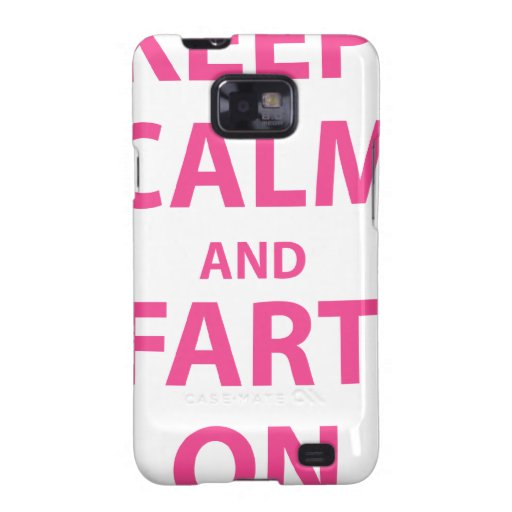 ¡Guarde la calma y Fart encendido! Samsung Galaxy SII Fundas