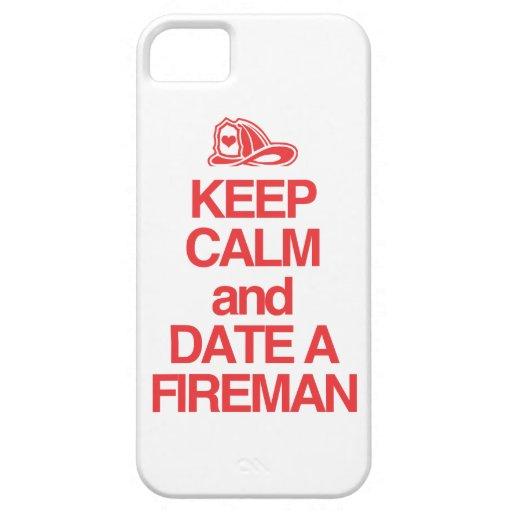Guarde la calma y feche a un bombero funda para iPhone SE/5/5s