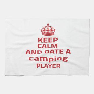 Guarde la calma y feche a un jugador que acampa toallas