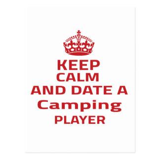 Guarde la calma y feche a un jugador que acampa postal