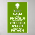 Guarde la calma y Fhtagn Poster