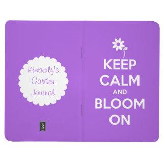Guarde la calma y florezca en el diario personaliz cuaderno