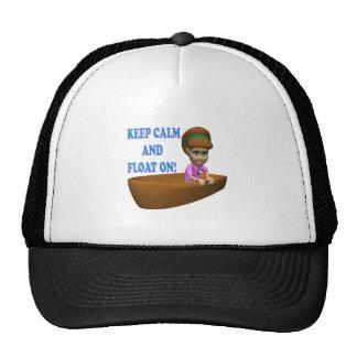 Guarde la calma y flote en 2 gorra