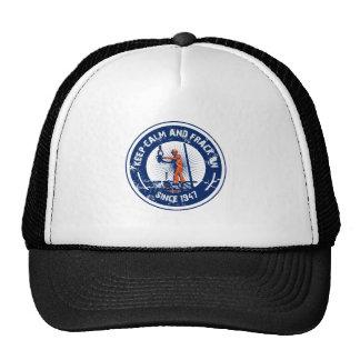 Guarde la calma y Frack encendido Desde 1947 Gorras De Camionero