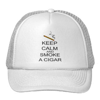 Guarde la calma y fume un cigarro gorras