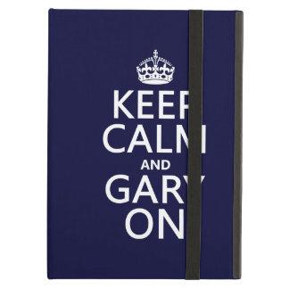 Guarde la calma y Gary en cualquier color de fond