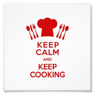 Guarde la calma y guarde el cocinar fotografía