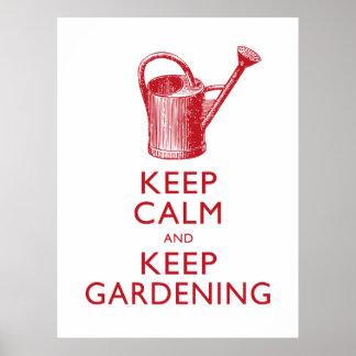 Guarde la calma y guarde la tienda del jardín que  impresiones