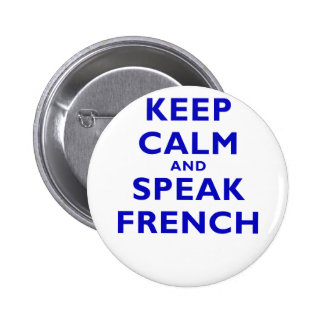 Guarde la calma y hable francés pins