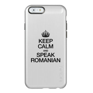GUARDE LA CALMA Y HABLE RUMANO FUNDA PARA iPhone 6 PLUS INCIPIO FEATHER SHINE