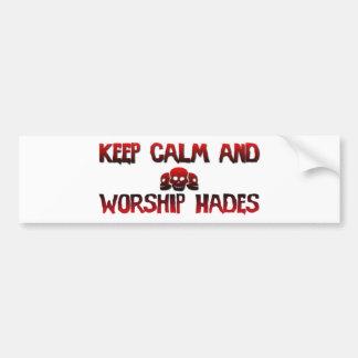 Guarde la calma y Hades Pegatina Para Auto