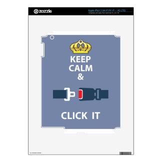 Guarde la calma y haga clicla iPad 3 skin