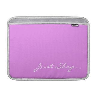 Guarde la calma y haga compras en rosa funda para macbook air