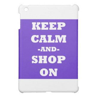 Guarde la calma y haga compras encendido