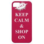 guarde la calma y haga compras encendido iPhone 5 Case-Mate protectores