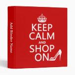 Guarde la calma y haga compras encendido - todos l
