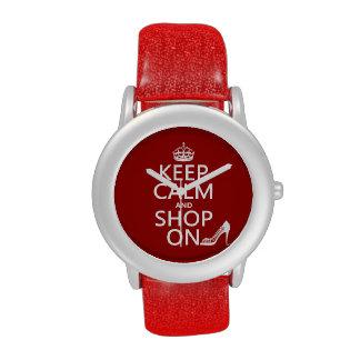 Guarde la calma y haga compras encendido - todos l relojes de pulsera