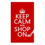 Guarde la calma y haga compras encendido - todos l plantillas de tarjetas de visita