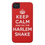 Guarde la calma y haga la sacudida de Harlem Case-Mate iPhone 4 Carcasas