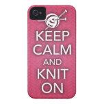 Guarde la calma y haga punto en el caso del iPhone iPhone 4 Protectores