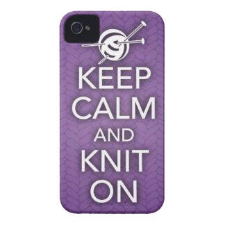 Guarde la calma y haga punto en el caso del iPhone iPhone 4 Case-Mate Protector