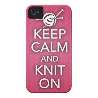 Guarde la calma y haga punto en el caso del iPhone Funda Para iPhone 4