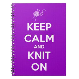 Guarde la calma y haga punto en Fuschia Cuaderno