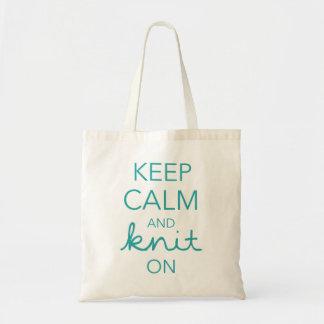Guarde la calma y haga punto encendido bolsa tela barata
