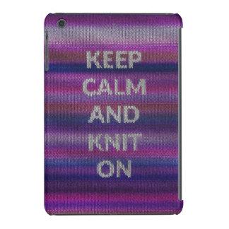 Guarde la calma y haga punto encendido fundas de iPad mini retina