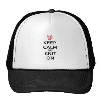 Guarde la calma y haga punto encendido gorra