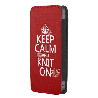 Guarde la calma y haga punto encendido - todos los funda para iPhone 5